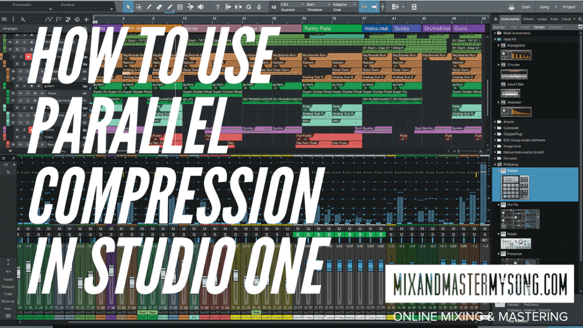 How to use Parallel Compression in Studio One 3