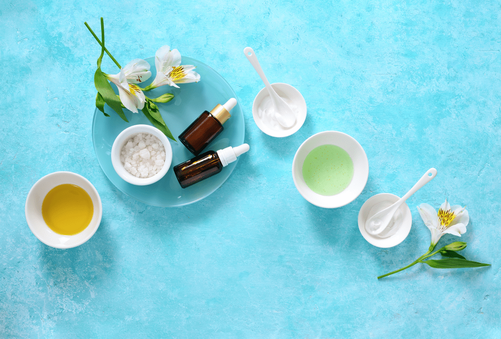 a group of organic and natural ingredients for use in cosmetics