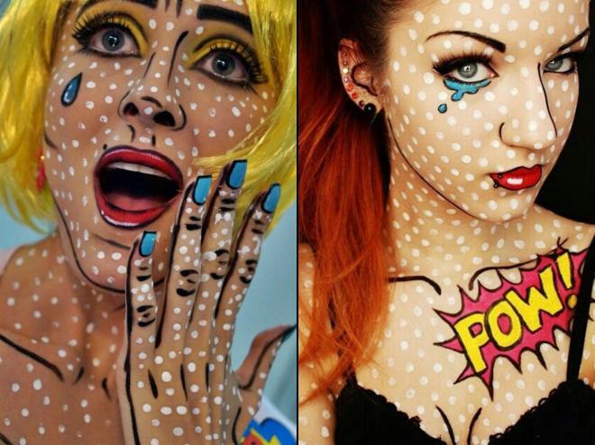 Maquiagem fantasia quadrinhos