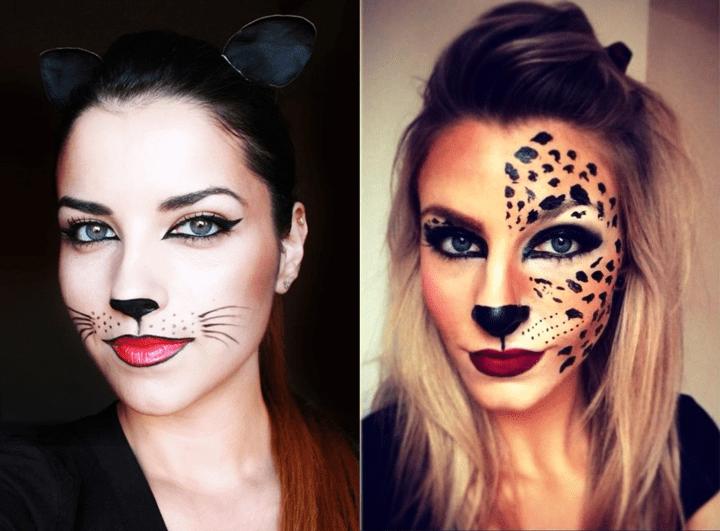 Maquiagem fantasia felina