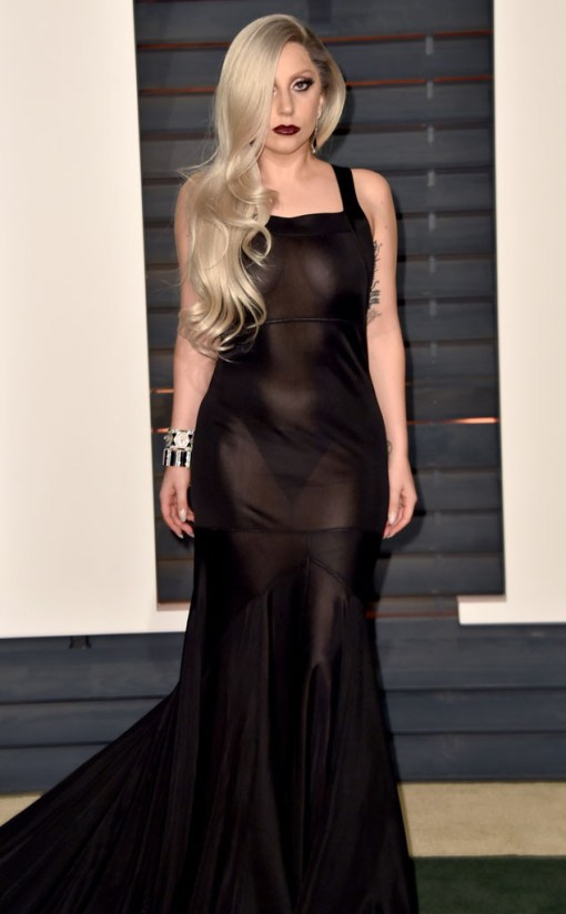 Lady gaga vestido after party oscar 2015