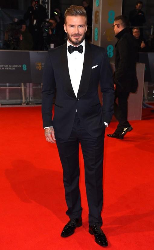 David Beckham BAFTA 2015
