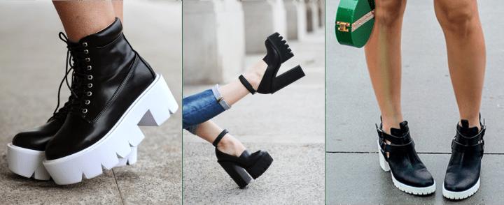Sapato sola tratorada