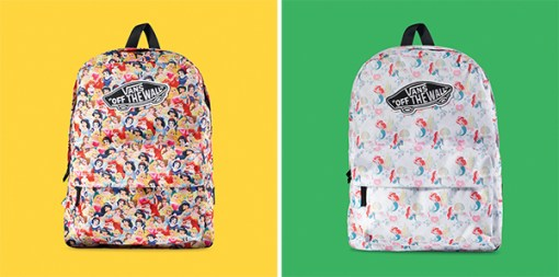 Vans e Disney parceria mochilas princesas young at heart