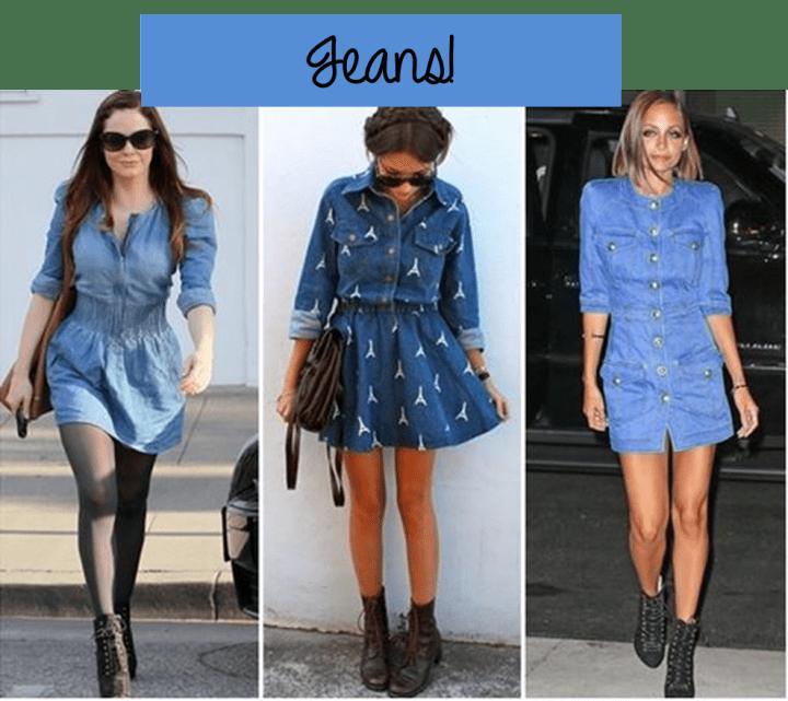tendência shirtdress vestido camisa jeans
