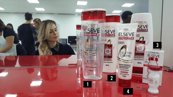 produtos L'Oréal Elseve reparação total 5 plástica capilar