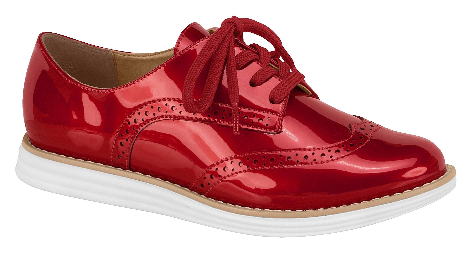 Vizzano Oxford metalizado vermelho 1231-101-11808-2 - R$ 154,90