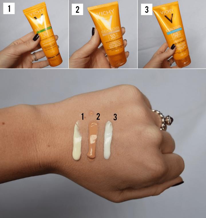 swatches-lancamentos-protetor-solat-vichy-ideal-soleil