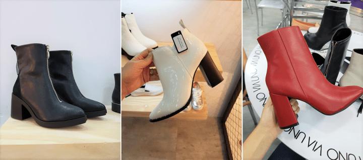 Botas cano curto couro moda 2018