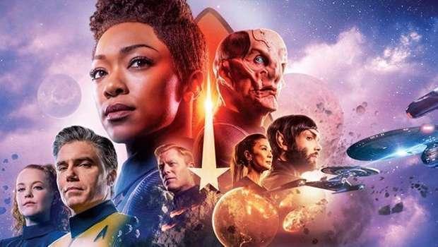 Personagens de Star Terk Discovery, umas das séreis que está chegando na Netflix em outubro