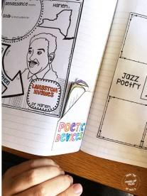 interactive notebook pocket storage