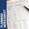 planning worksheet for bulletin board letters