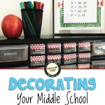 Decorating your middle school classroom