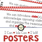 I Can - We Can - I Will - Posters for middle school