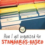 How I got organized for standards-based learning