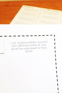 worksheets with Common Core standards labels on stickers