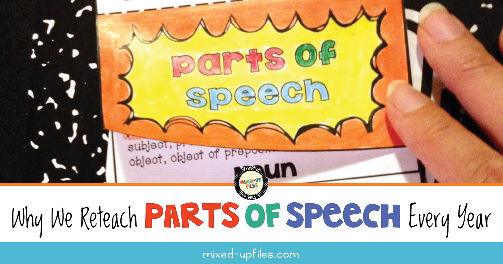 Why We Reteach Parts of Speech Every Year