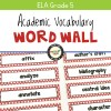 Academic Vocabulary Word Wall for Grade 5 (Old School Style)