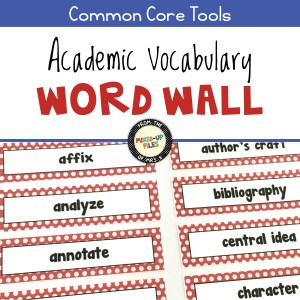Academic Vocabulary Word Wall for ELA Grades 5-12