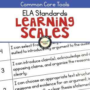 ELA Standards Learning Scales Posters