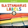 ELA Standards Folder Labels for Grade 5