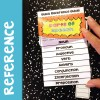 Parts of Speech Interactive Notebook quick reference flipbook