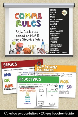 Comma Rules Presentation and Teacher Guide