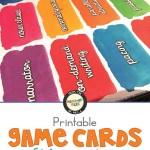 Printable ELA academic vocabulary game cards