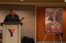 Phil Cote, Moose Deer Point First Nation Elder, opening the conference.