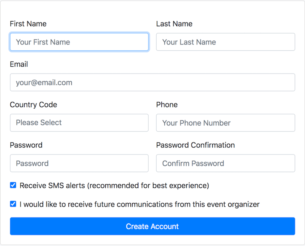 Example of Account Setup
