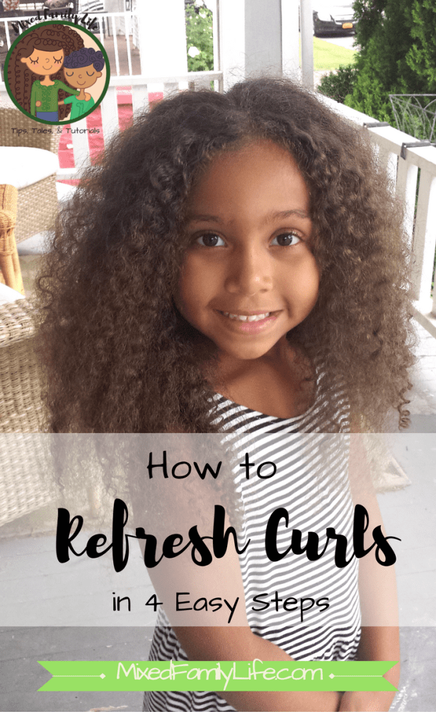 How to Refresh Curls in 4 Easy Steps by Mixed Family Life