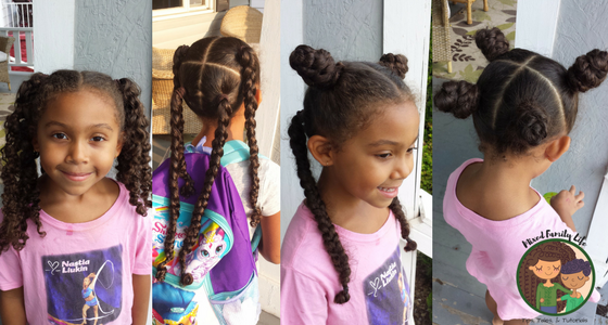 One Hairstyle Multiple Looks - 4 hair sections - by Mixed Family Life