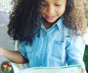 Daughter Reading Book - Biracial Bookworms Academy Recommendation by Mixed Family Life