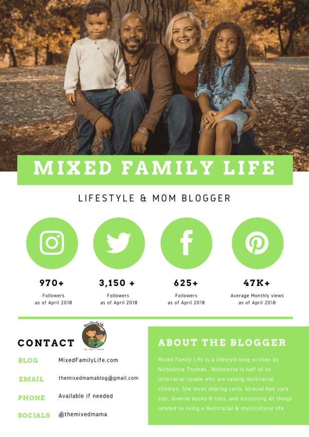Mixed Family Life - Media Kit - Work with Me