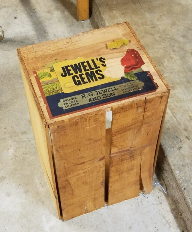 Wimberley Trip, and Junkin at Antique Alley | old wood crate
