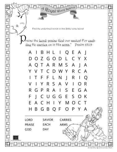 Bumble wordsearch - child