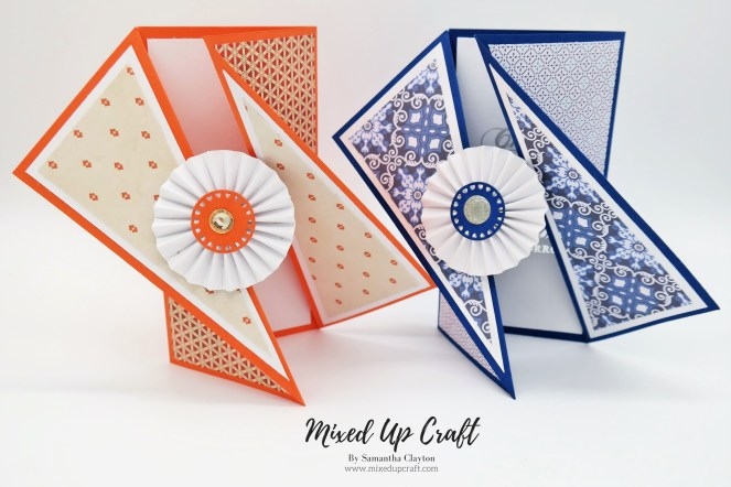Stunning Twisted Gate Fold Cards