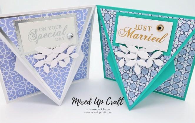 Arrow Fold Wedding cards