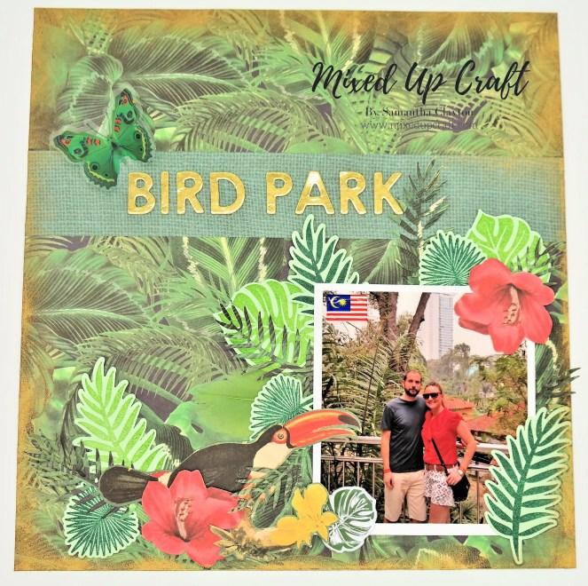 "Scrapbook Layout ""Bird Park"""