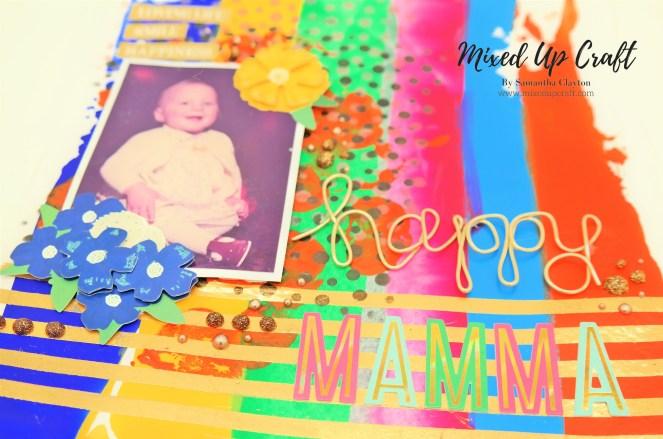 "Scrapbook Layout ""Happy Mamma"""