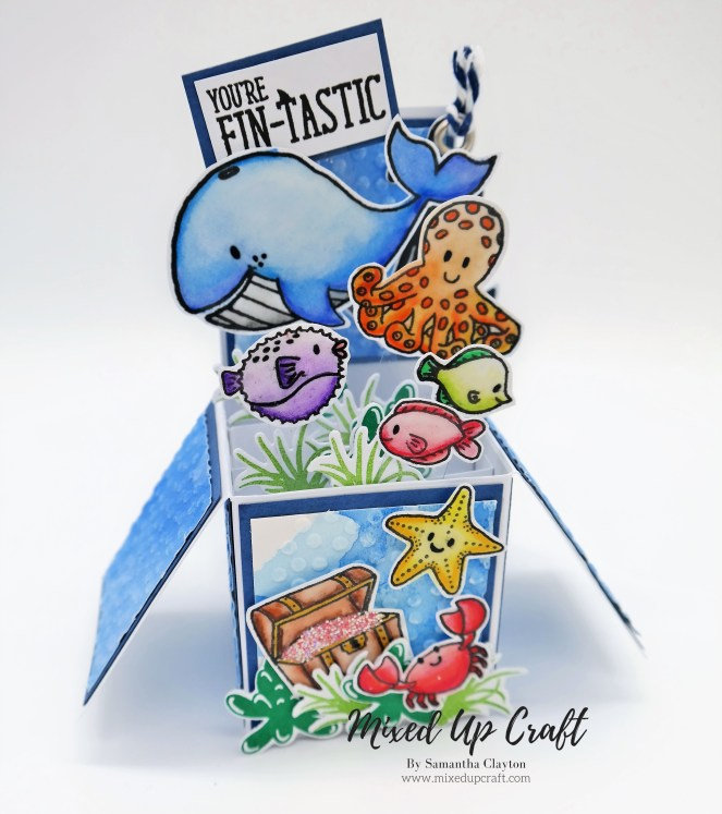 """Pop Up Box Card For The Love Of Stamps """"Under The Sea"""""""