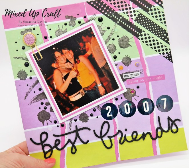 "Scrapbook Layout ""Best Friends"""