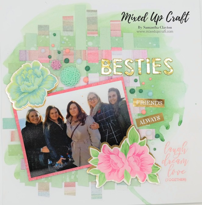 "Scrapbook Layout ""Besties"""