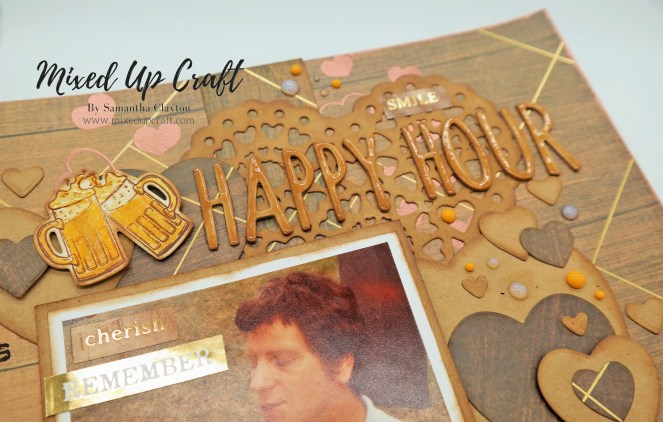"Scrapbook Layout ""Happy Hour"""