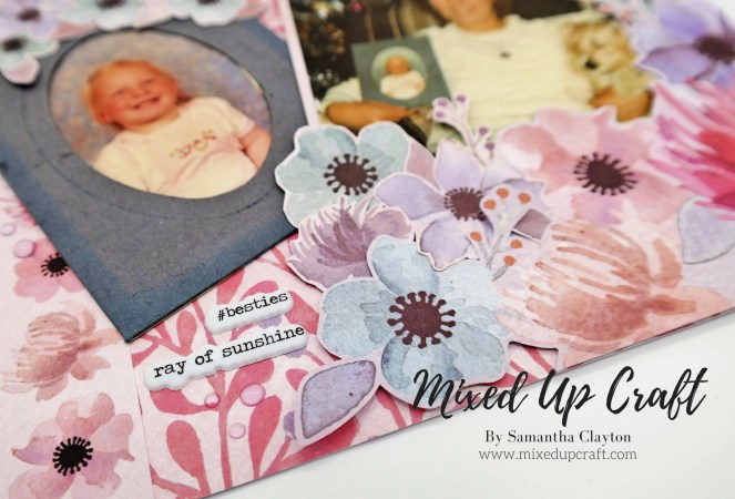 """First Born"" Scrapbook Layout"