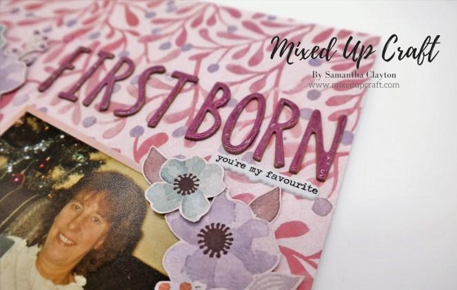 """First Born"" Scrapbook Layout"