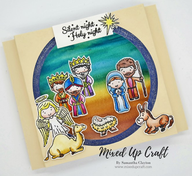 Nativity Shadow Box Card