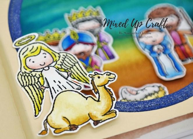 Nativity Shadow Box Card