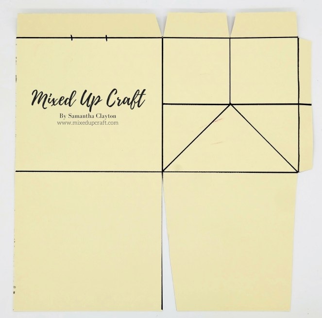 Template for the Short & Wide Fold Flat Gift Bag