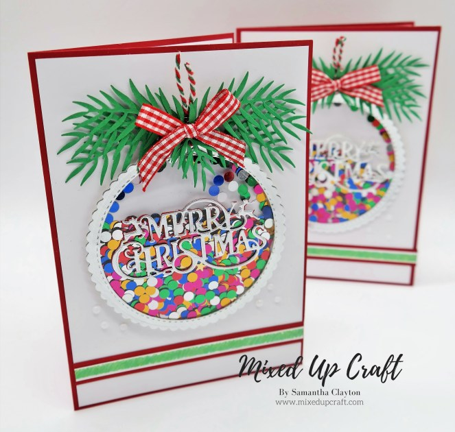 Christmas Bauble Shaker Card